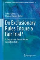 Cover image for Do Exclusionary Rules Ensure a Fair Trial? A Comparative Perspective on Evidentiary Rules