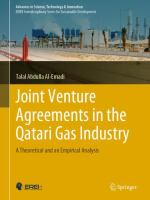 Cover image for Joint Venture Agreements in the Qatari Gas Industry A Theoretical and an Empirical Analysis