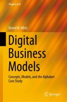 Cover image for Digital Business Models Concepts, Models, and the Alphabet Case Study