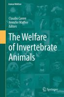 Cover image for The Welfare of Invertebrate Animals