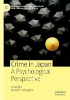 Cover image for Crime in Japan A Psychological Perspective