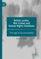 Cover image for British Justice, War Crimes and Human Rights Violations       The Age of Accountability