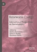 Cover image for Renewable Energy International Perspectives on Sustainability