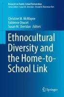 Cover image for Ethnocultural Diversity and the Home-to-School Link