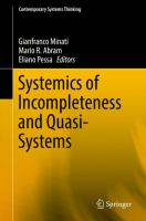 Cover image for Systemics of Incompleteness and Quasi-Systems