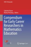 Cover image for Compendium for Early Career Researchers in Mathematics Education