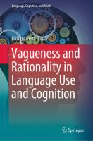 Cover image for Vagueness and Rationality in Language Use and Cognition