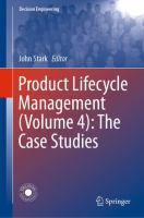 Cover image for Product Lifecycle Management (Volume 4): The Case Studies
