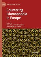 Cover image for Countering Islamophobia in Europe