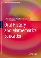 Cover image for Oral History and Mathematics Education