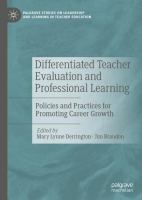 Cover image for Differentiated Teacher Evaluation and Professional Learning Policies and Practices for Promoting Career Growth