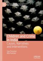 Cover image for Children and Crime in India Causes, Narratives and Interventions