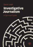 Cover image for Investigative Journalism A Survival Guide