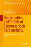 Cover image for Opportunities and Pitfalls of Corporate Social Responsibility The Marange Diamond Mines Case Study