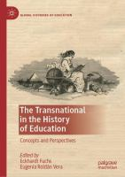 Cover image for The Transnational in the History of Education Concepts and Perspectives