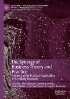 Cover image for The Synergy of Business Theory and Practice Advancing the Practical Application of Scholarly Research
