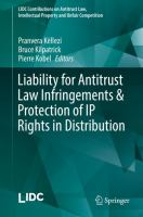 Cover image for Liability for Antitrust Law Infringements & Protection of IP Rights in Distribution