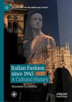 Cover image for Italian Fashion since 1945 A Cultural History
