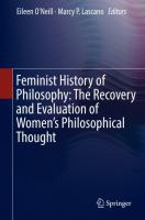 Cover image for Feminist History of Philosophy: The Recovery and Evaluation of Women's Philosophical Thought