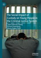 Cover image for The Social Impact of Custody on Young People in the Criminal Justice System