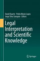 Cover image for Legal Interpretation and Scientific Knowledge