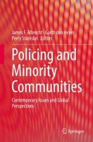 Cover image for Policing and Minority Communities Contemporary Issues and Global Perspectives