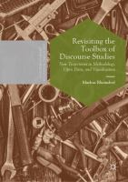Cover image for Revisiting the Toolbox of Discourse Studies New Trajectories in Methodology, Open Data, and Visualization