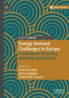 Cover image for Energy Demand Challenges in Europe Implications for policy, planning and practice