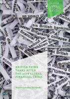 Cover image for British Think Tanks After the 2008 Global Financial Crisis