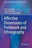 Cover image for Affective Dimensions of Fieldwork and Ethnography