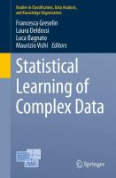 Cover image for Statistical Learning of Complex Data