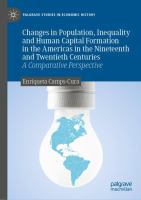 Cover image for Changes in Population, Inequality and Human Capital Formation in the Americas in the Nineteenth and Twentieth Centuries A Comparative Perspective