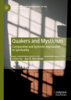 Cover image for Quakers and Mysticism Comparative and Syncretic Approaches to Spirituality