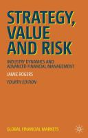 Cover image for Strategy, Value and Risk Industry Dynamics and Advanced Financial Management