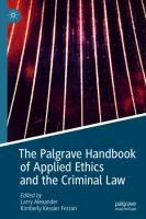 Cover image for The Palgrave Handbook of Applied Ethics and the Criminal Law