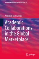 Cover image for Academic Collaborations in the Global Marketplace