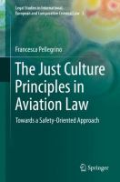 Cover image for The Just Culture Principles in Aviation Law Towards a Safety-Oriented Approach
