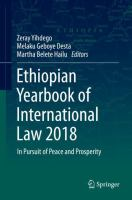 Cover image for Ethiopian Yearbook of International Law 2018 In Pursuit of Peace and Prosperity