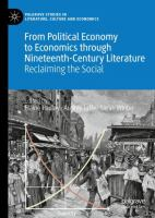 Cover image for From Political Economy to Economics through Nineteenth-Century Literature Reclaiming the Social
