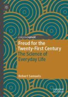Cover image for Freud for the Twenty-First Century The Science of Everyday Life