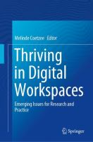 Cover image for Thriving in Digital Workspaces Emerging Issues for Research and Practice