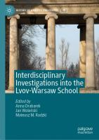 Cover image for Interdisciplinary Investigations into the Lvov-Warsaw School