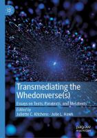 Cover image for Transmediating the Whedonverse(s) Essays on Texts, Paratexts, and Metatexts