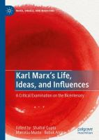 Cover image for Karl Marx's Life, Ideas, and Influences A Critical Examination on the Bicentenary