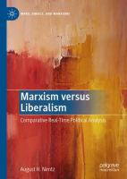 Cover image for Marxism versus Liberalism Comparative Real-Time Political Analysis