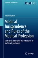 Cover image for Medical Jurisprudence and Rules of the Medical Profession