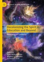 Cover image for Decolonizing the Spirit in Education and Beyond  Resistance and Solidarity