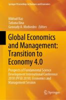 Cover image for Global Economics and Management: Transition to Economy 4.0 Prospects of Fundamental Science Development International Conference 2018 (PFSD 2018): Economics and Management Session