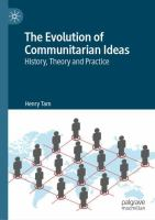 Cover image for The Evolution of Communitarian Ideas History, Theory and Practice