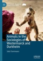 Cover image for Animals in the Sociologies of Westermarck and Durkheim